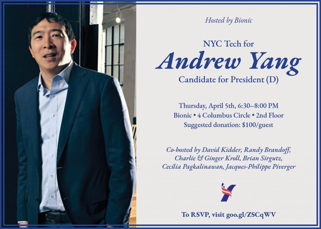 april 5th nyc event with andrew yang